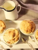 Apricot and Vanilla Bean Souffles with Creme Anglaise