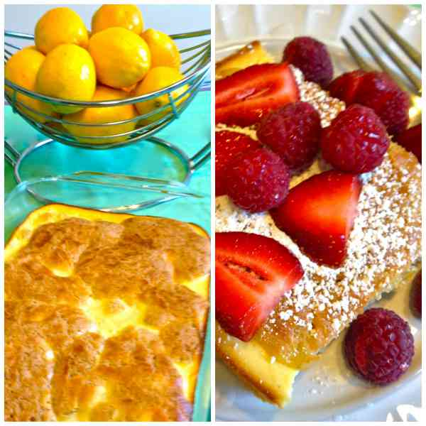 baked blintzes collage