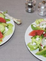 Grapefruit and Avocado Salad with Citrus, Mint and Vanilla Dressing