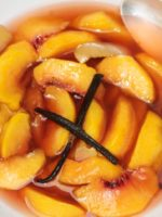 Rum and Vanilla Poached Peaches