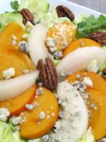 Persimmon and Pear Salad with Blue Cheese and Pecans