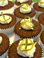 Guinness Gingerbread Cupcakes with Lime-Vanilla Frosting