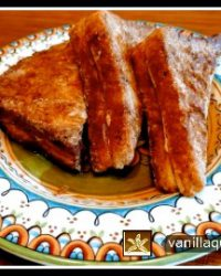 Pumpkin Spice Stuffed French Toast