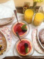 Headlands Inn Peach Baked French Toast