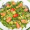 Spinach Salad with Pesto Dressing and Pistachios