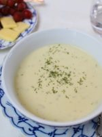 Chilled Cucumber Soup with Dill and Vanilla